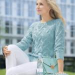 11 моделей ажурных пуловеров вязанных спицами со схемами, описанием и видео МК