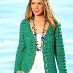 9 моделей пиджаков вязаных крючком со схемами, описанием и видео МК