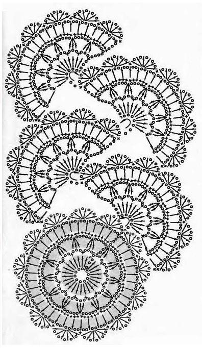 ленточное кружево крючком модели и схемы 15 вариантов