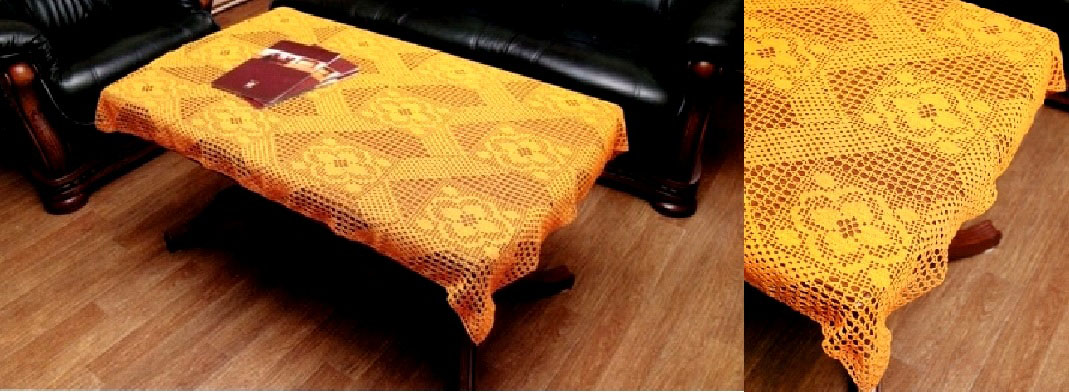 накидки на стулья крючком со схемами красивые