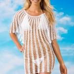 Туника крючком пляжная: 16 моделей со схемами, описанием и видео МК
