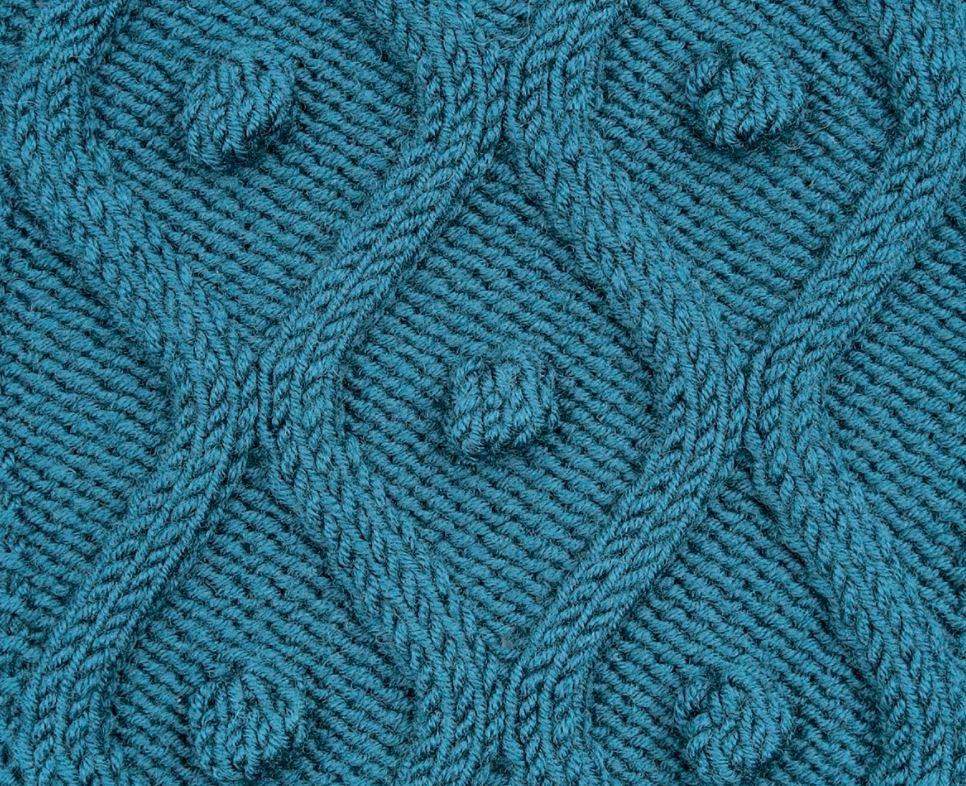 рельефные узоры спицами схемы с описанием 12 вариантов