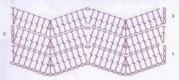 ажурная вязка крючком схемы