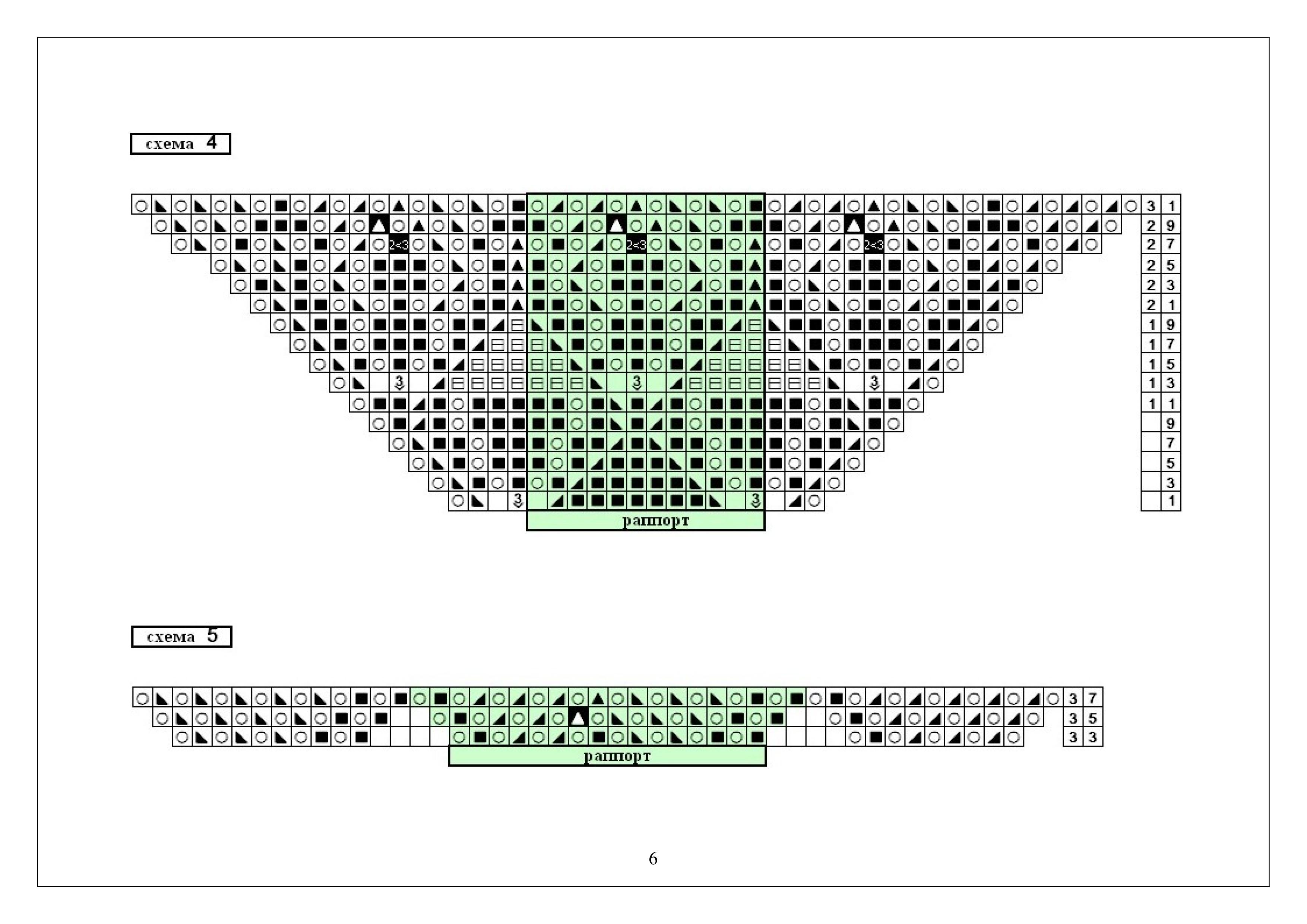 Вязание схема шали из мохера