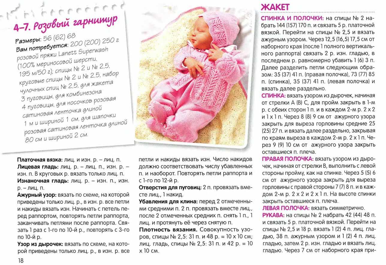 Вязаные костюмчики для новорожденных спицами: 14 моделей