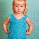 22 модели маечек для девочки вязаных крючком