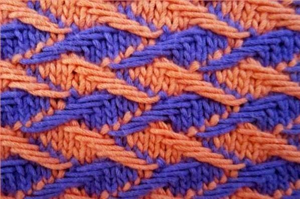 двухцветное вязание спицами 9 вариантов узоров фото видео мк