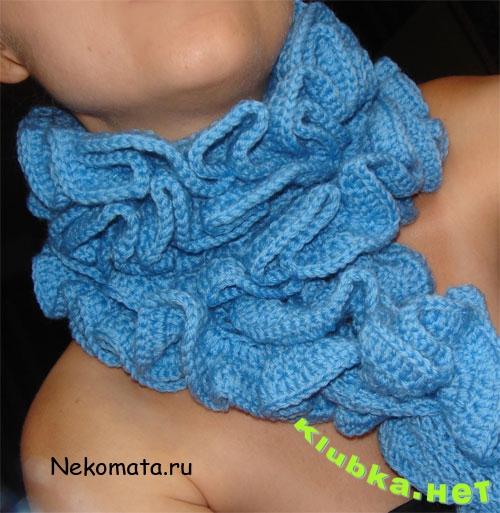 шарф крючком для начинающих 9 вариантов со схемами и описанием