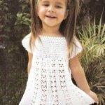 Вязание для девочек крючком -12 моделей очаровательных платьев и аксессуаров