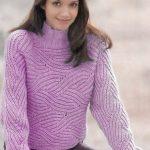 4 модели пуловеров «бриошь» выполненных спицами со схемами и описанием