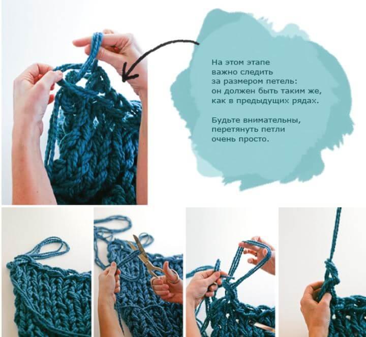 вязание руками без спиц и крючка описание техники фото видео мк