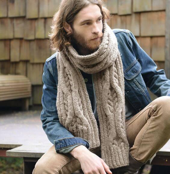 Мужской объёмный шарф