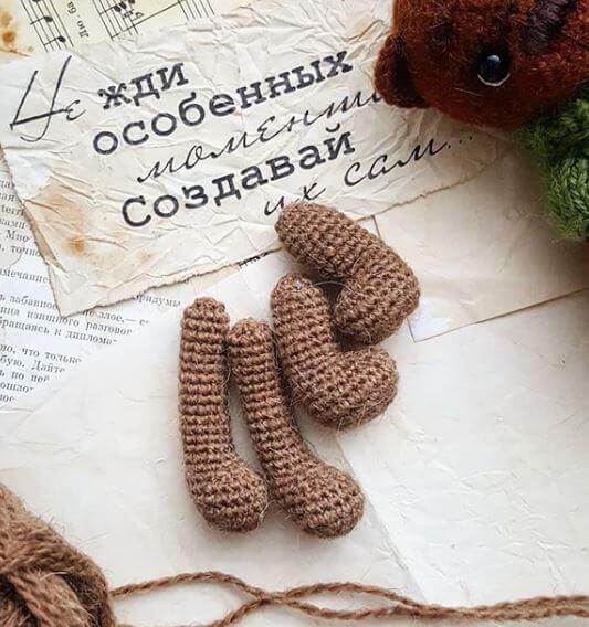 медвежонок вязаный