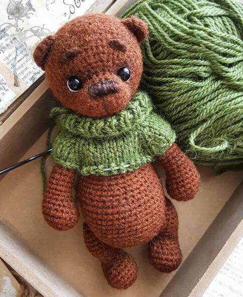 готовый медвежонок крючком