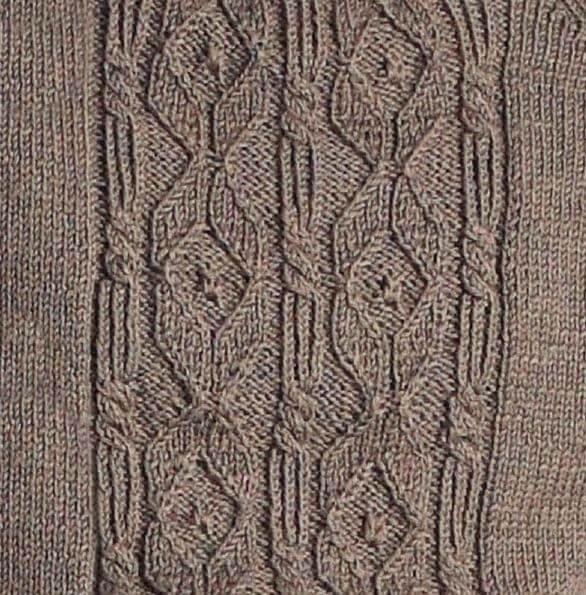 классический мужской пуловер спицами узор фото