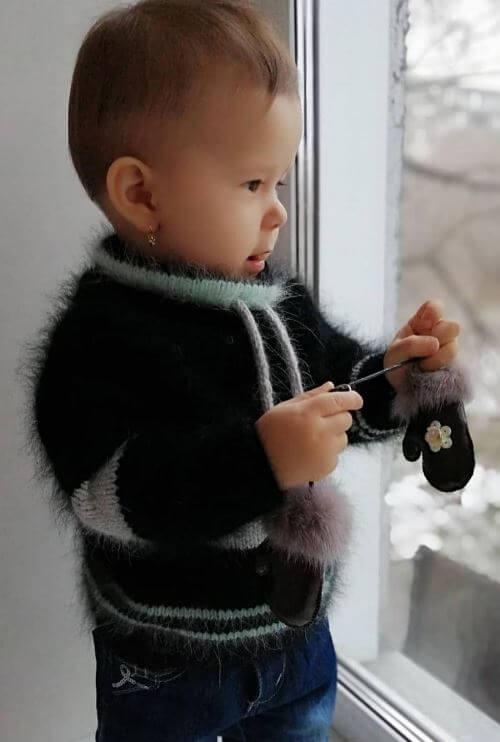 Вязаное худи