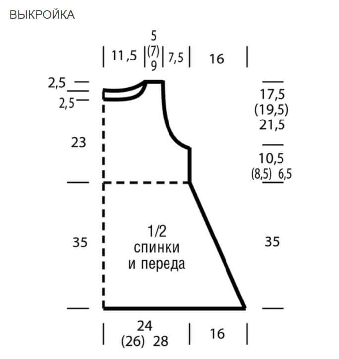 Туника А-силуэта выкройка