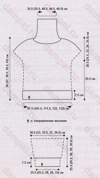 Пуловер выкройка